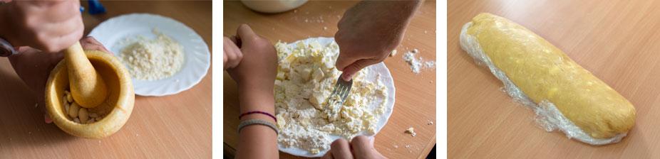 Steps for making Gateau Basque