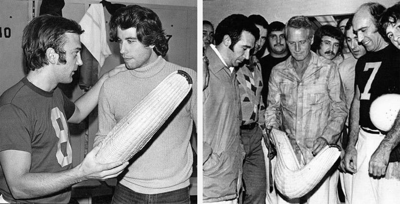 John Travolta & Paul Newman try on cestas