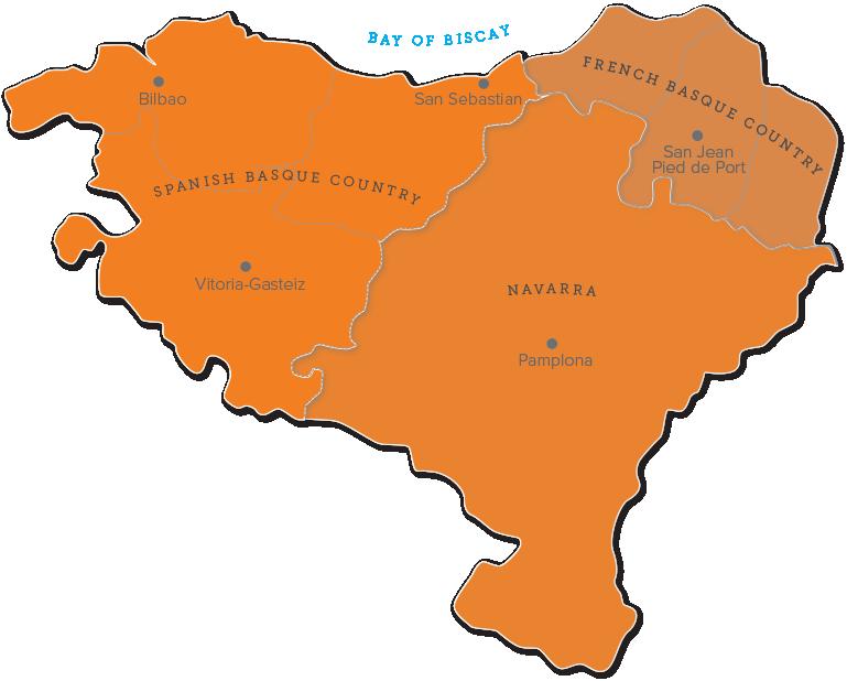 baskenland karte Wo befindet sich das Baskenland   Reiseführer