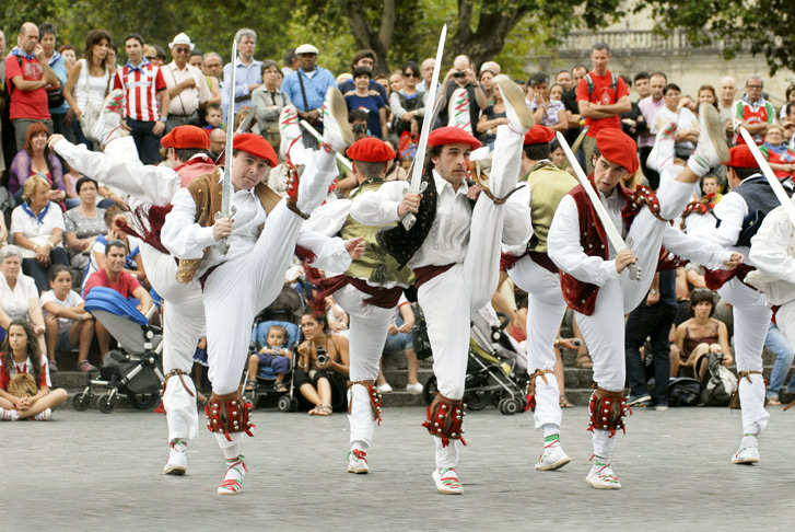 Basque Dancers at the Bilbao's Aste Nagusia festival