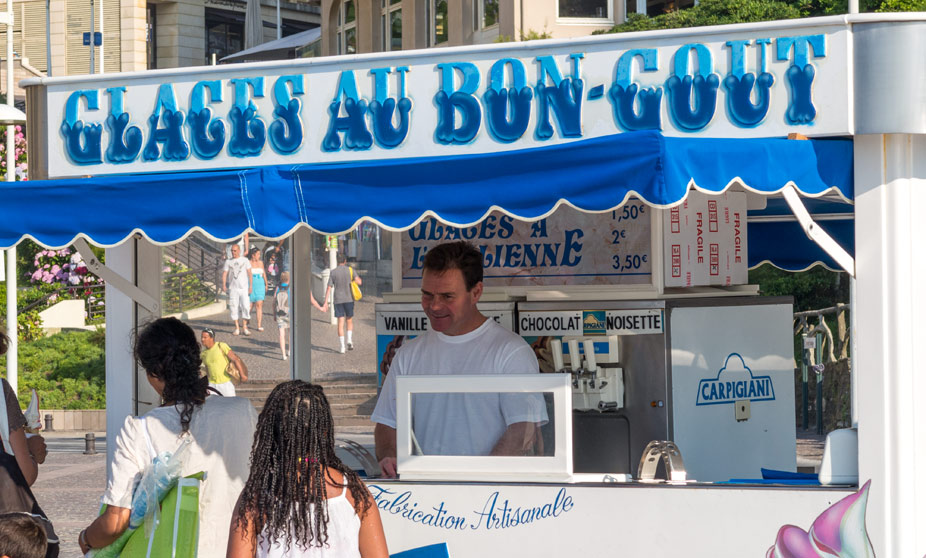 Ice Cream Vendor at the Grande Plage - Biarritz, France