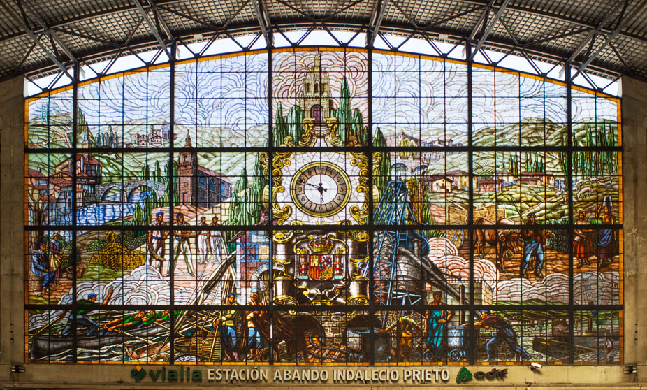 Abando Train Station, Bilbao, Basque Country, Spain