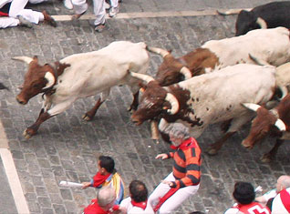 San Fermin – Running of the Bulls, Pamplona (Spain)